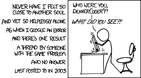 xkcd - wisdom of the ancients